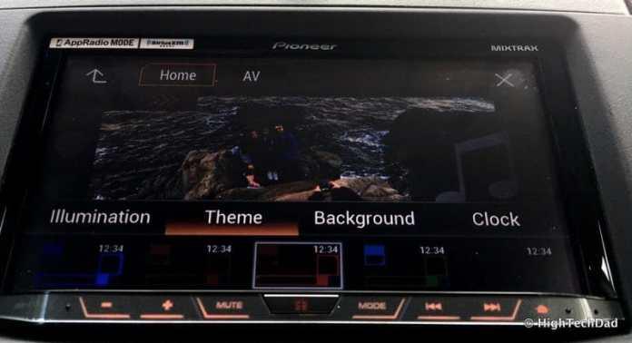 Pioneer AVH-4100NEX Review - theme settings