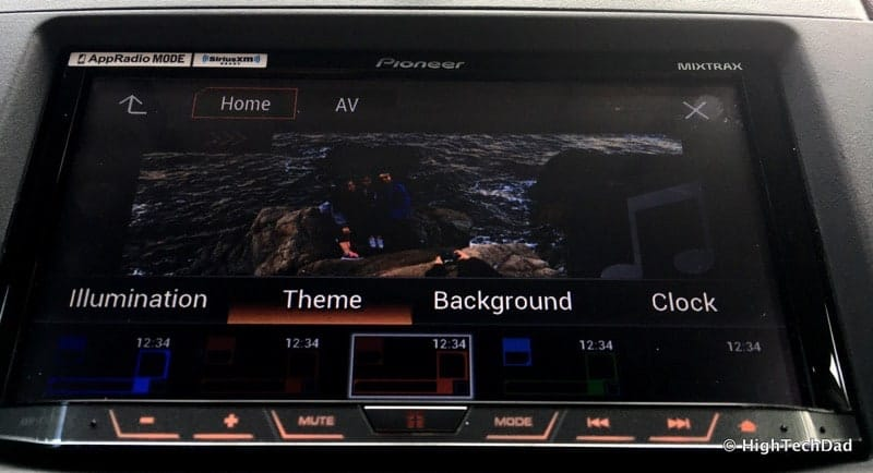 Pioneer AVH-4100NEX Review - theme settings