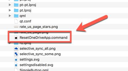 Reset OneDrive - App Command
