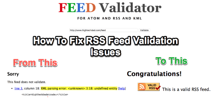 How To Fix RSS Feed Validation Error for WordPress Site Name