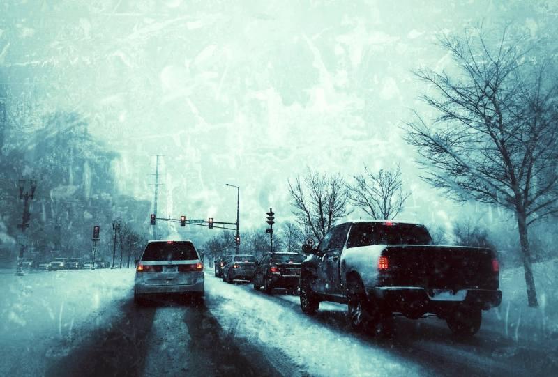 Car Winter Tips - winter road