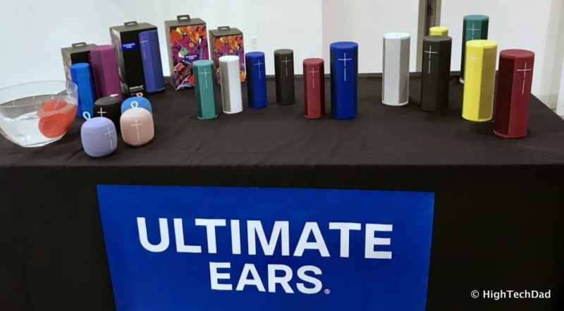 Logitech 2017 Holiday Tech Media Preview - Ultimate Ears table
