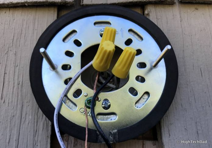 Ring Floodlight Cam - wires connected