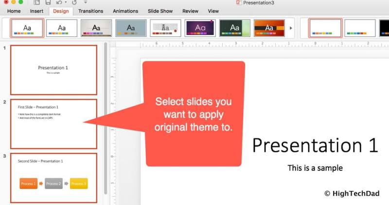 HTD PowerPoint Design - select slides