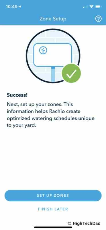HTD Rachio Gen3 Review - set up Zones