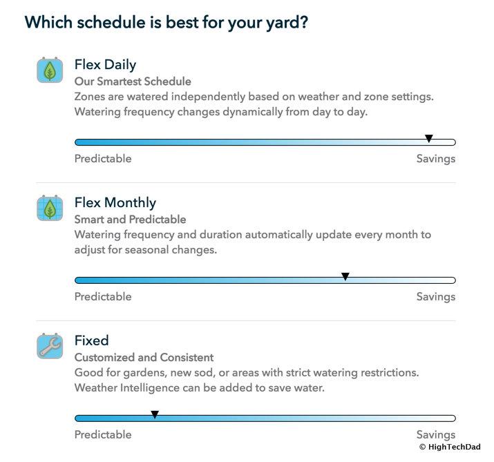 HTD Rachio Gen3 Review - schedule type