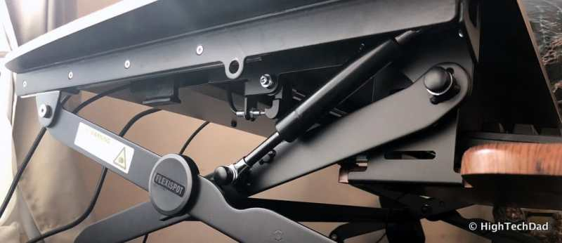 FlexiSpot ClassicRiser Standing Desk Converter review - the hydraulics