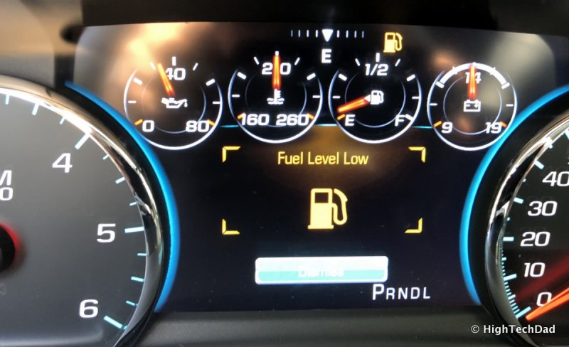 2018 Chevy Tahoe - fuel low alert