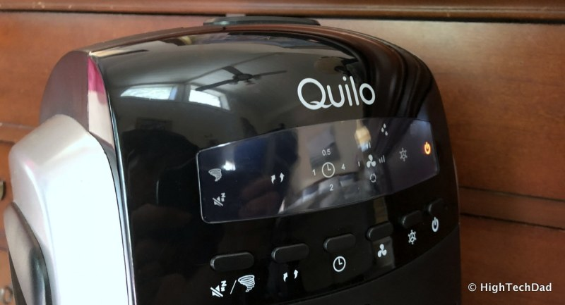 Quilo Tower Fan Review - top control