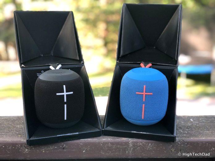 Ultimate Ears Wonderboom Bluetooth speakers review - in the box open
