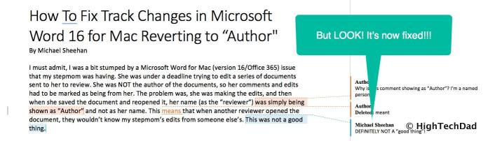 HTD How to Fix Track Changes in Word for Mac reverting to