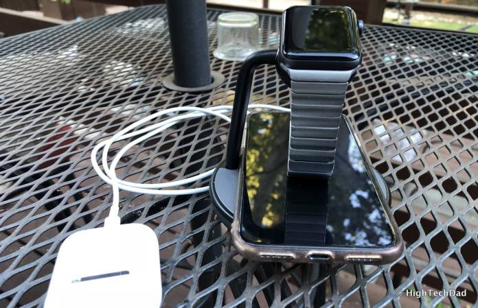 HTD Kanex GoPower Watch Stand with Wireless Charging Base Review - charge 3 devices