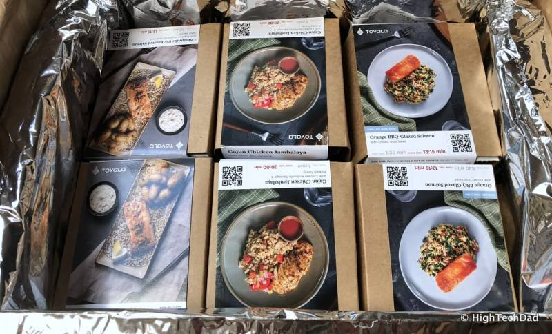 HTD Tovala Steam Oven & Meals Review - packed meals