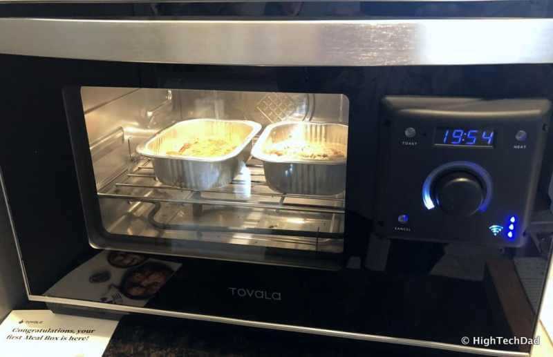 HTD Tovala Steam Oven & Meals Review - cooking a meal