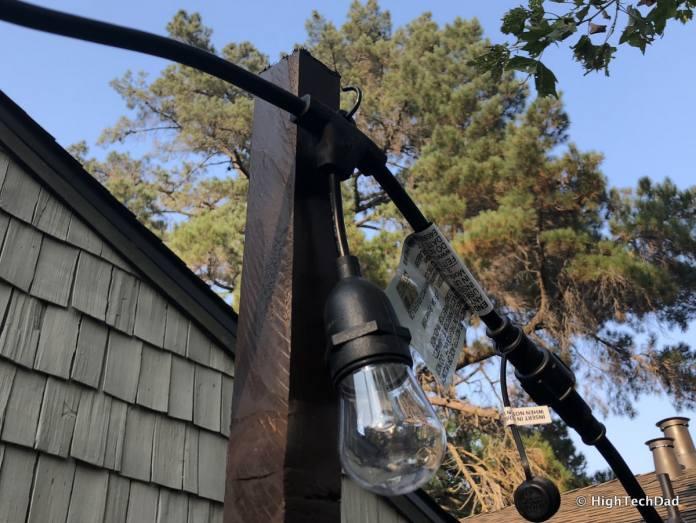 HTD DIY Deck Lighting Post - light hooked on