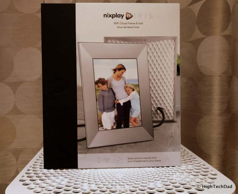 HighTechDad Nixplay Iris Digital WiFi Frame Review - boxed frame