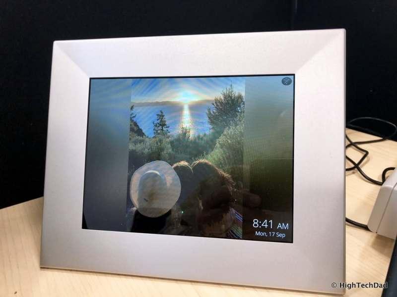 HighTechDad Nixplay Iris Digital WiFi Frame Review - girls