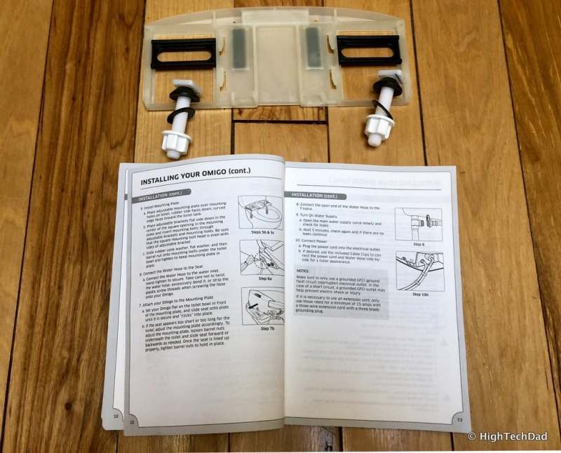 HighTechDad Omigo Toilet Seat Review - mounting plate