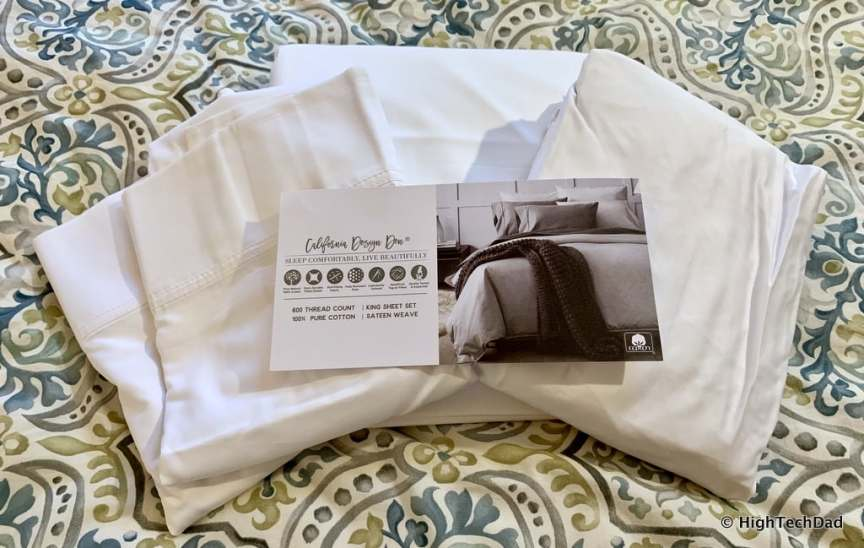 HighTechDad Sleep Tips & California Design Den Sheets - upgraded sheets