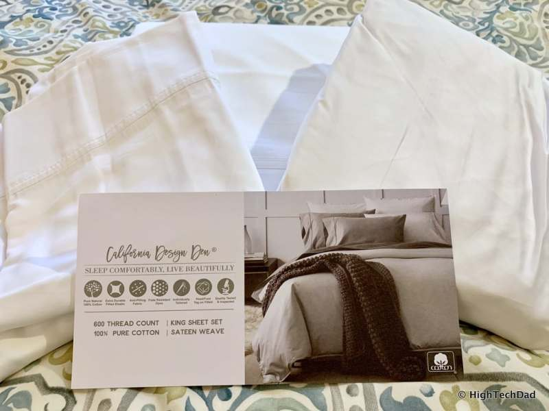 HighTechDad Sleep Tips & California Design Den Sheets - new sheets