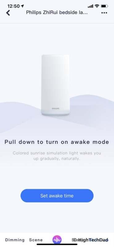 HighTechDad Xiaomi PHILIPS ZhiRui Smart Bedside Lamp - wake setting