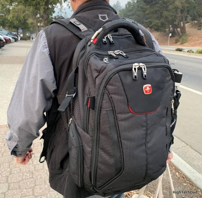 HighTechDad Swissgear 5358 USB ScanSmart Backpack Review - wearing