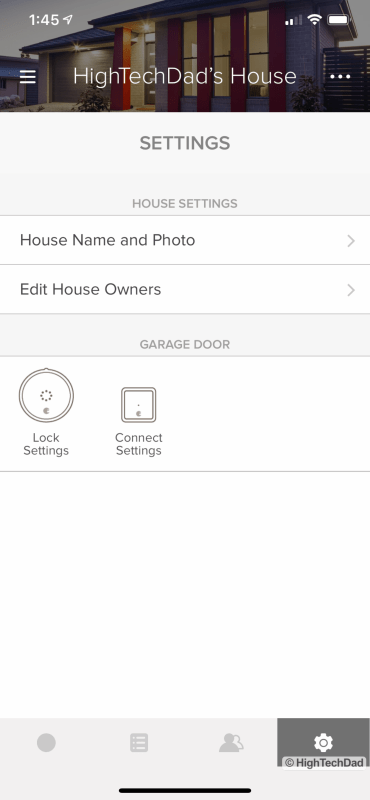 HighTechDad Review August Smart Lock Pro - in app settings