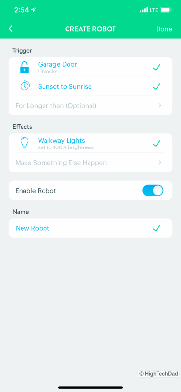 HighTechDad Review August Smart Lock Pro - Wink hub robot and automation