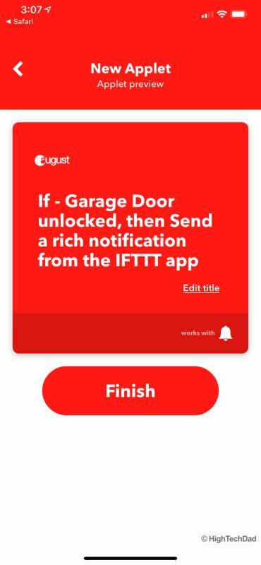 HighTechDad Review August Smart Lock Pro - IFTTT integration