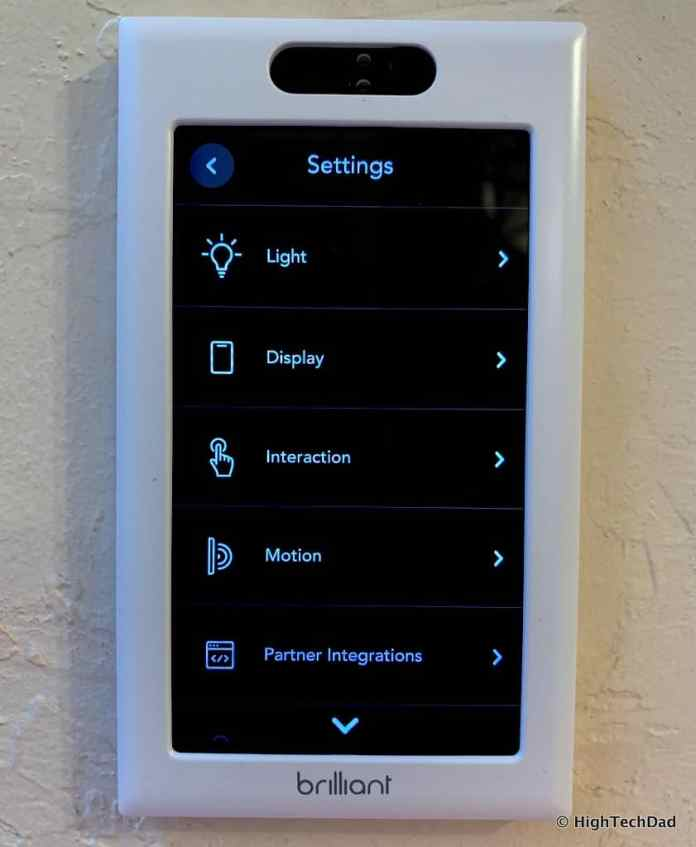 HighTechDad Brilliant Smart Switch Review - settings screen