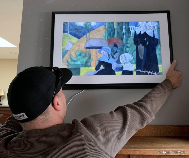 HighTechDad Meural Canvas Review - landscape