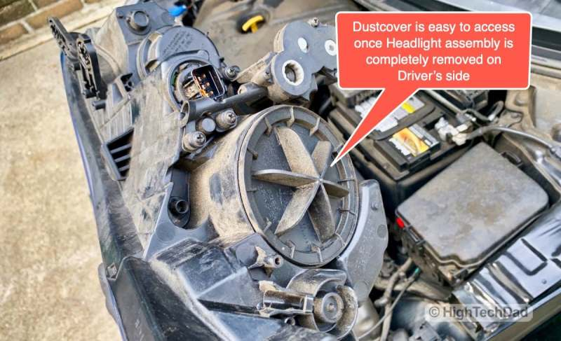 HighTechDad - How To Replace Headlight bulbs on 2013 Hyundai Elantra - easy replacement now