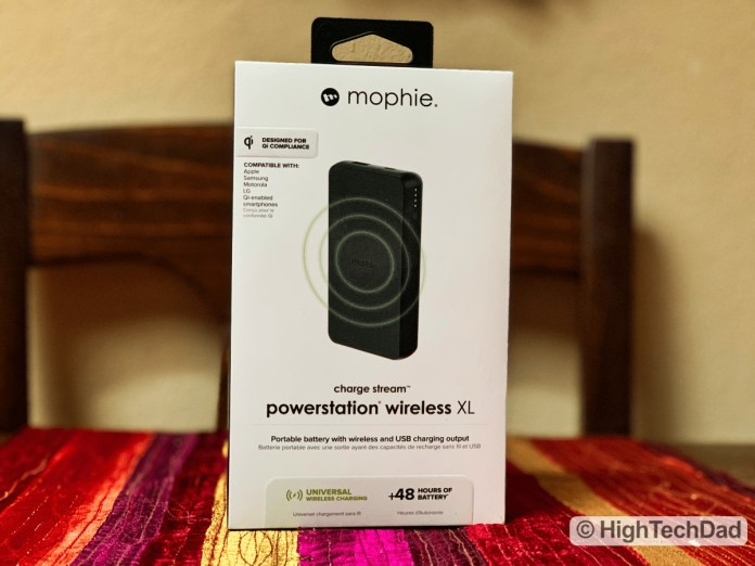 HighTechDad Review Mophie Charge Stream Powerstation Wireless XL - in box