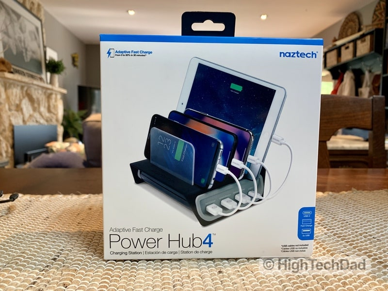 HighTechDad Naztech Power Hub4 power bank review - boxed