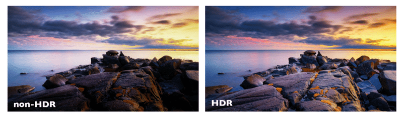 HDR versus non-HDR