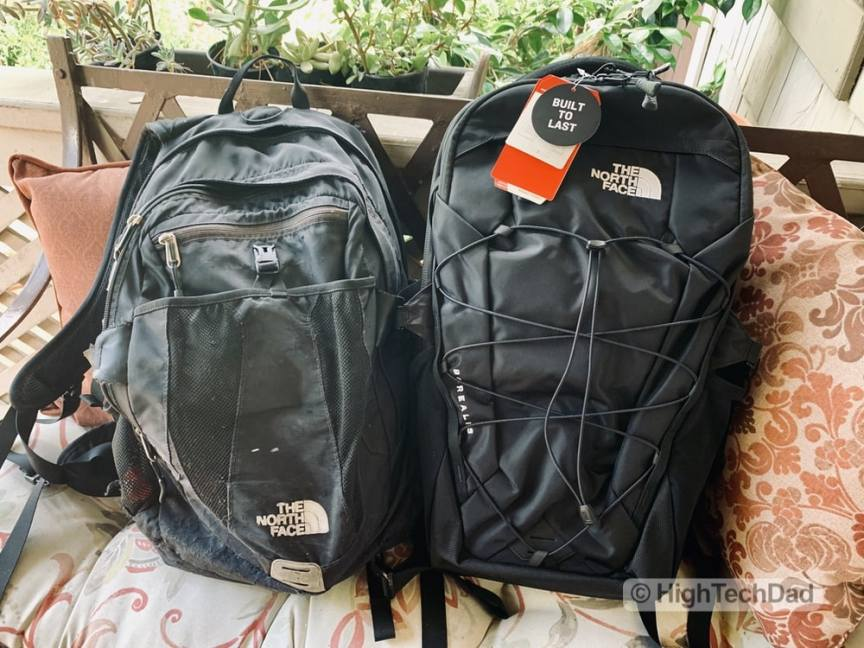 HighTechDad Backpacks.com The North Face Borealis backpack review - old and new North Face backpacks