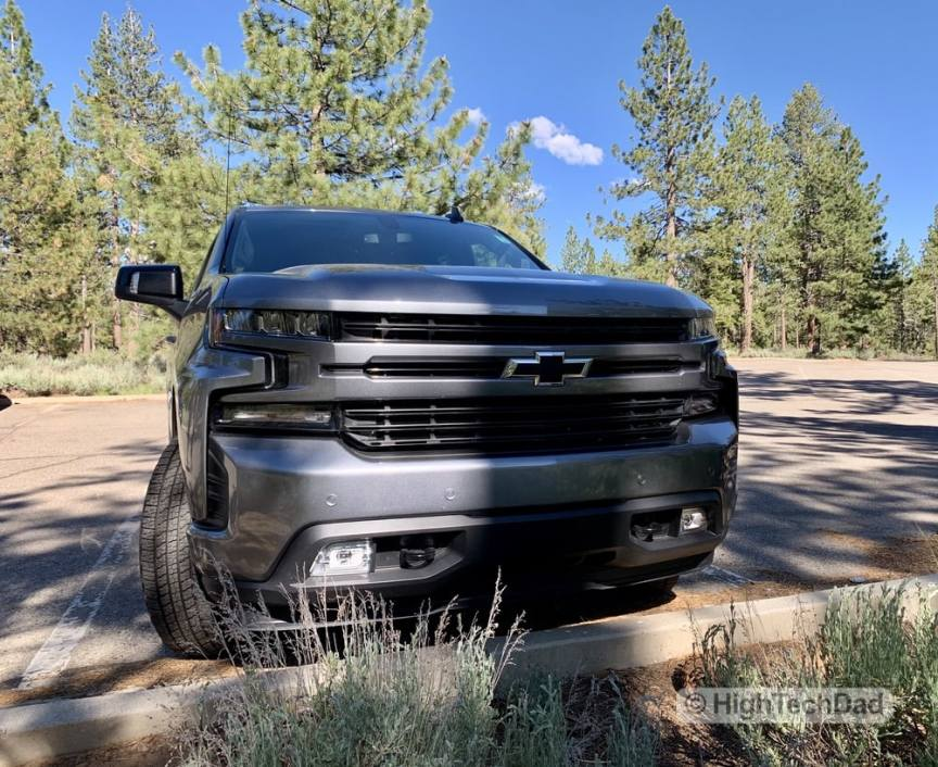 HighTechDad Review 2019 Chevy Silverado - front grill
