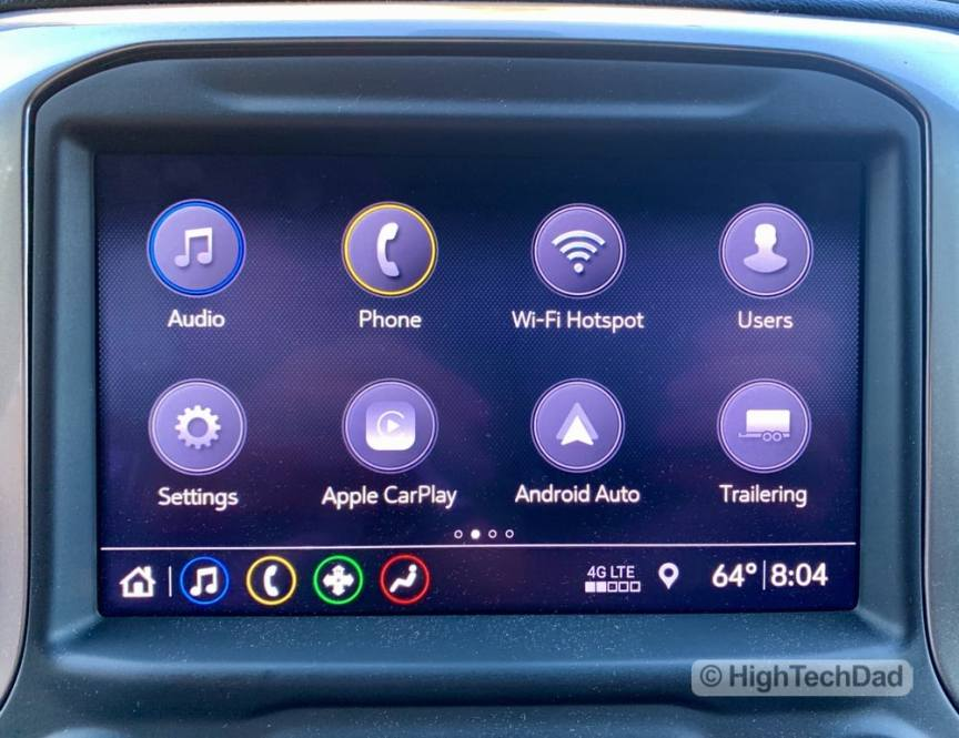 HighTechDad Review 2019 Chevy Silverado - Apple CarPlay and Android Auto