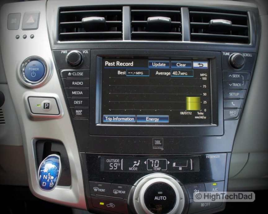 HighTechDad explores the new Kelley Blue Book site Ride.Tech - hybrid car display