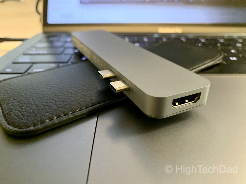 HighTechDad review of HyperDrive PRO 8-in-2 USB Type-C hub - HDMI port