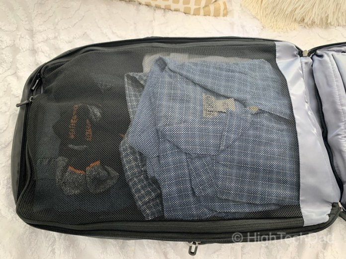 HighTechDad Reviews Nayo Almighty backpack - with clothes