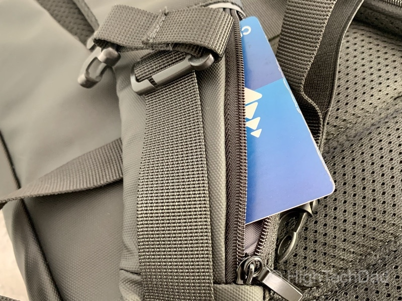 HighTechDad Reviews Nayo Almighty backpack - zippered pocket