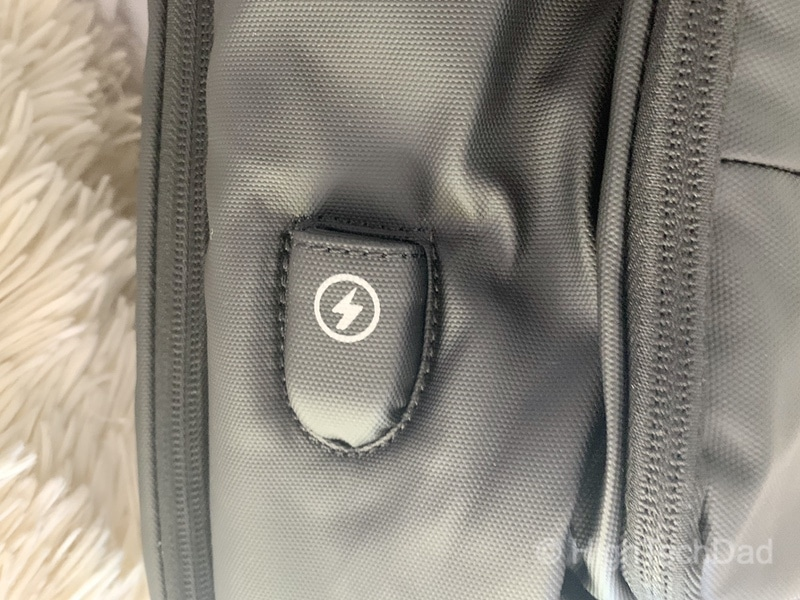 HighTechDad Reviews Nayo Almighty backpack - USB port