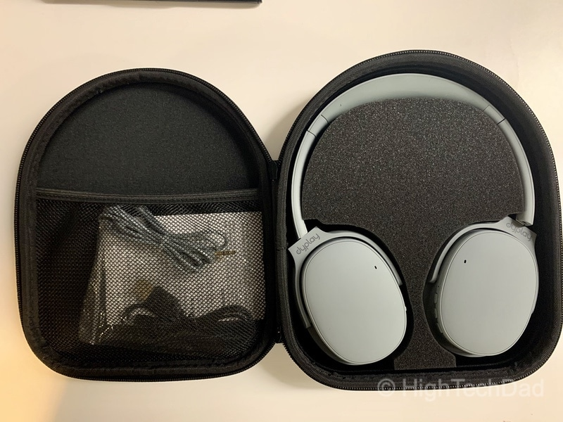 HighTechDad review: dyplay Urban Traveler Active Noise Canceling headphones - included case and cables