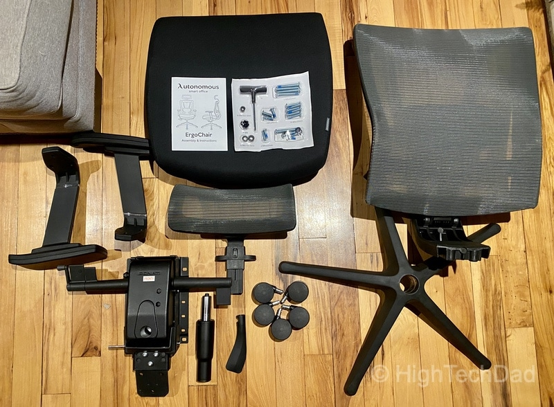 HighTechDad review - Autonomous ErgoChair 2 - what's in the box
