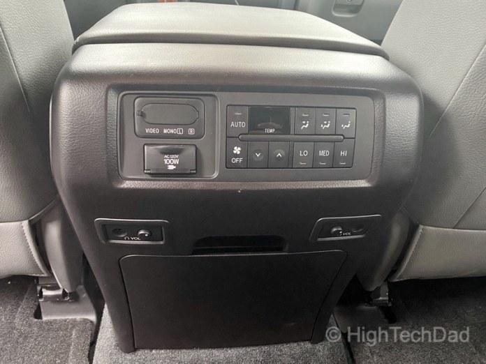 HighTechDad, Toyota Season of Giving & the 2019 Toyota Sequoia - headphone jacks and controls