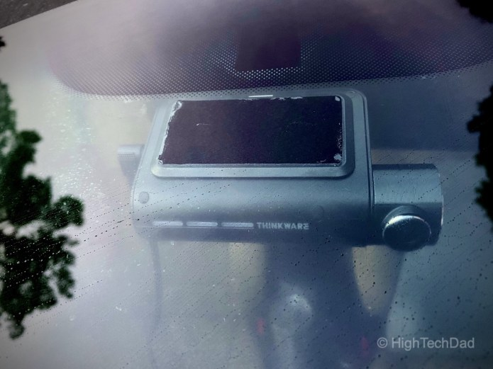 HighTechDad reviews Thinkware F800PRO  dash cam - mounted to window