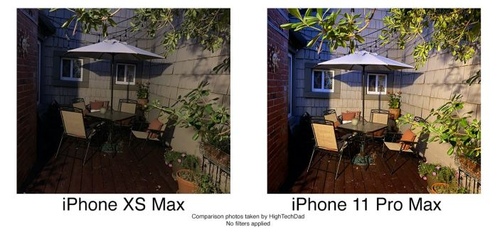 HighTechDad tests iPhone 11 Pro Max - deck shot without flash
