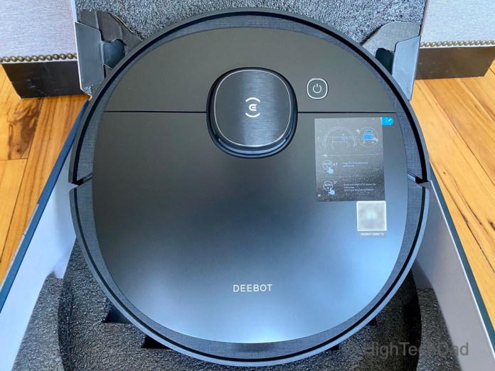 Top turret has the laser which does the mapping - Ecovacs Deebot T5 robot vacuum