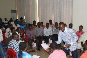 A Syndicate group discussion with Oyo State Coordinator
